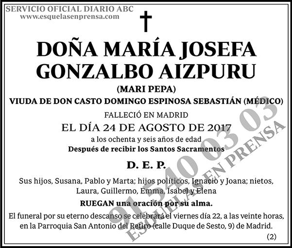 María Josefa Gonzalbo Aizpuru